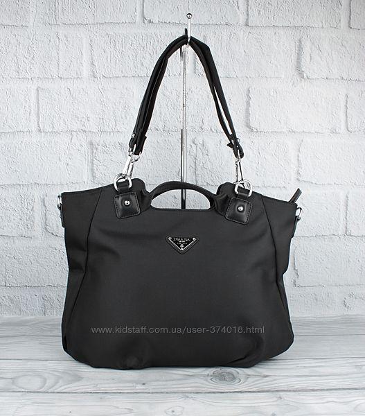 Женская сумочка prada 807 черная текстильная