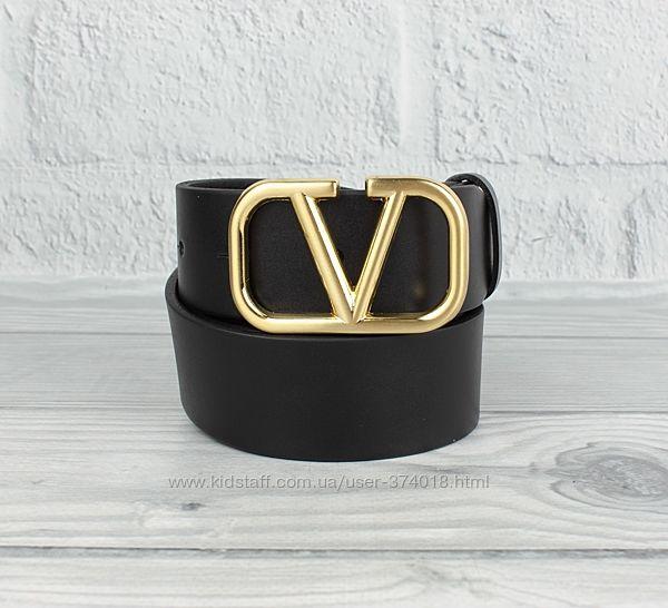 Женский кожаный ремень гвоздь 8050 черный 40 мм, пряжка серебро, золото