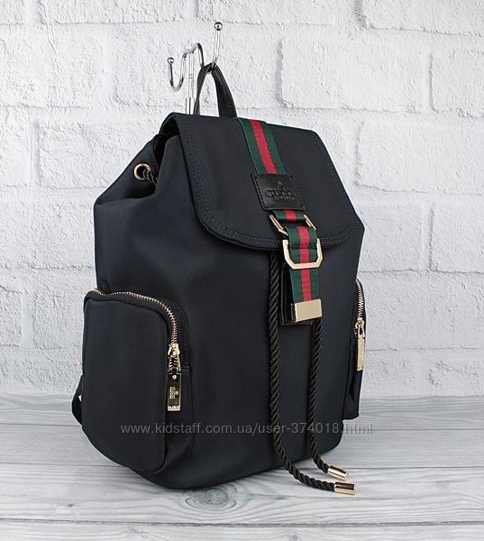 Стильный городской рюкзак брендовый 9801 синий с карманами