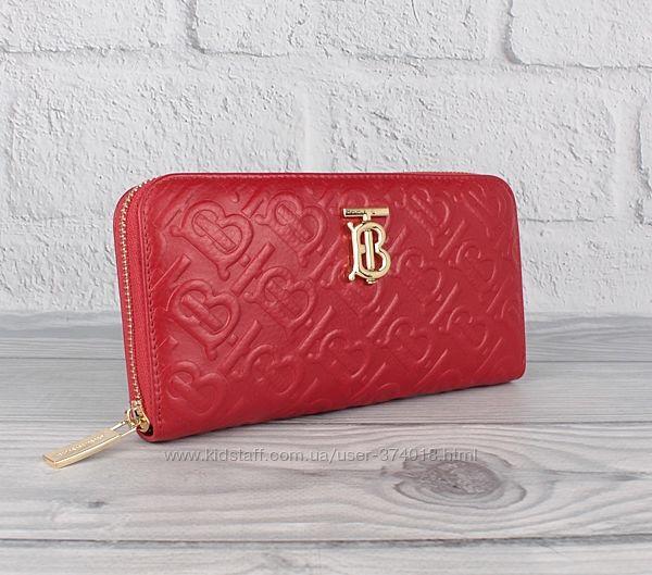 Кошелек женский кожаный на молнии 5995 черный, красный , бренд