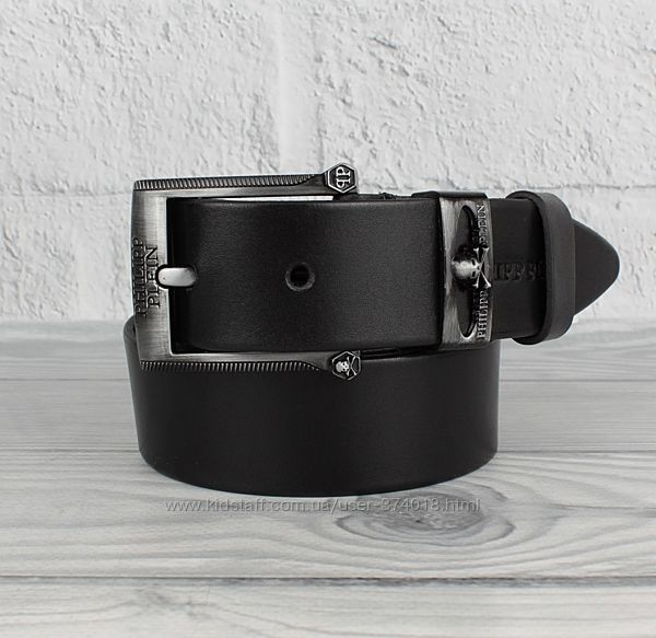 Кожаный ремень под джинсы pp 8208-401-2 черный, 40 мм