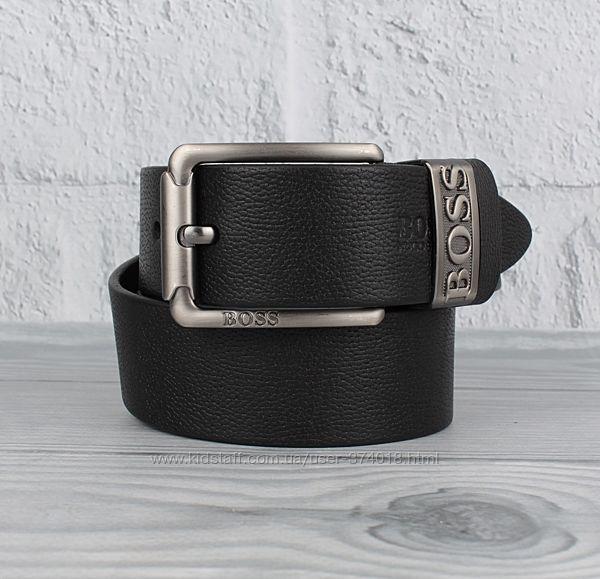 Кожаный ремень под джинсы 8208-404-1 черный, 40 мм
