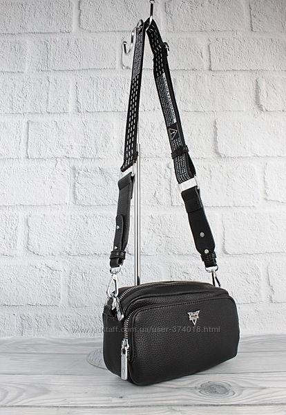 Модный клатч, сумочка через плечо velina fabbiano 572250 черная на текстиль
