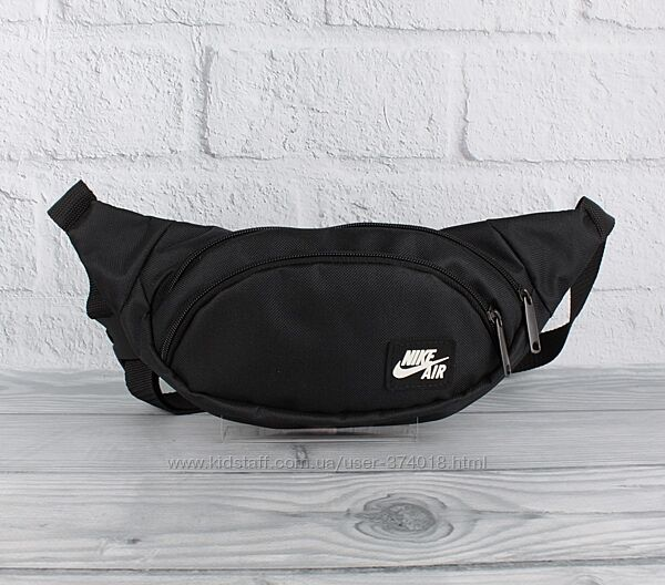Сумочка, сумка на пояс, грудь, через плечо, бананка nike 714-1 черная