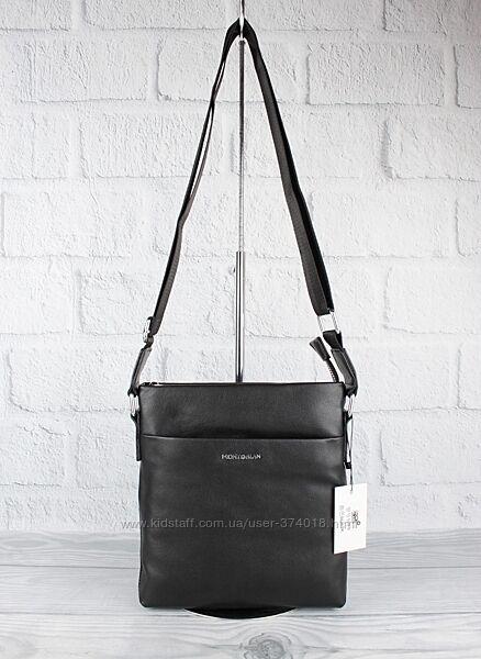 Кожаная мужская сумка через плечо, планшет мв 109-2 средняя, 24224 см