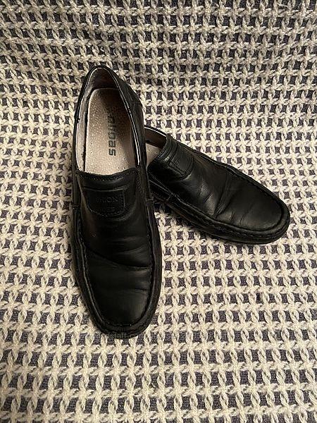 Кожаные мокасины туфли, 35р -стелька 22см