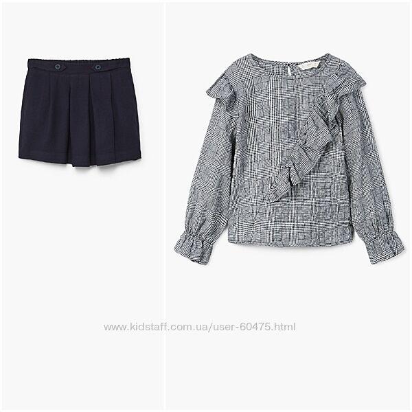 Новые юбка и блузка Mango 6-7 лет