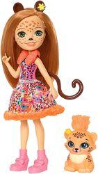 Кукла Enchantimals Чериш Гепард с питомцем