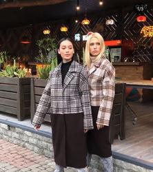 Кашемировое зимнее пальто-  Мила нова с песцом