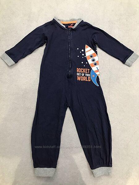 Человечек котоновый, слип, пижама Lupilu на 12-24 месяца 86-92 см.