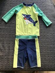 Купальный костюм плавки и футболка M&S размер 18-24 мес 1,5-2 года, 92 см