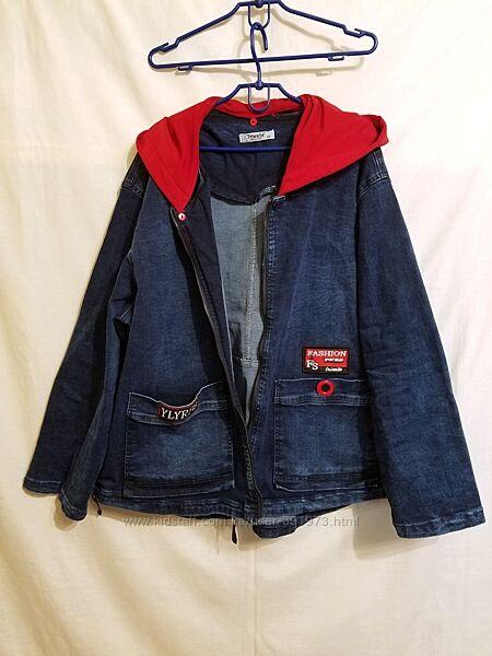 Джинсовая курточка женская большого размера, турция.