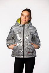 Весна 2021, стильная двухсторонняя светоотражающая куртка ADEL 140-164 см