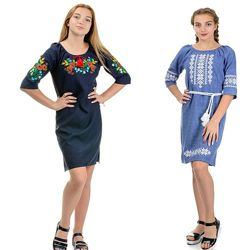 платье вышиванка 10 расцветоу в размерах 42- 58