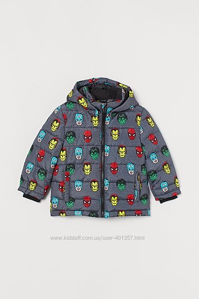 H&M. Курточки Marvel. Демисезон, еврозима. Размеры 116  140