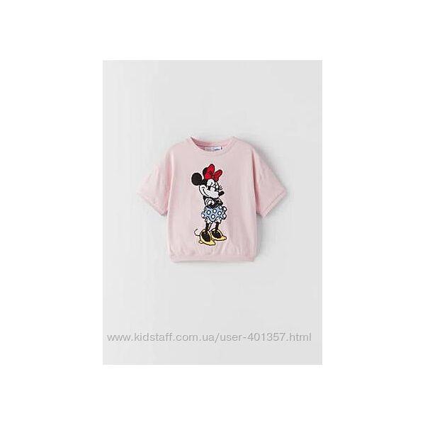 Zara.  Футболочка Disney Minnie Mouse. Размеры