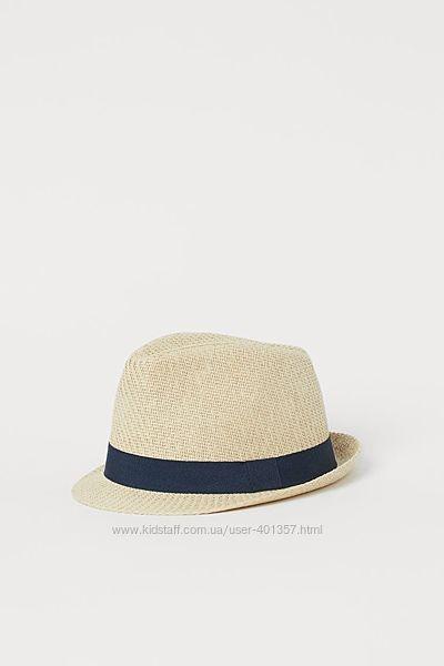 H&M. Шляпа соломенная федора для мальчика. Размеры