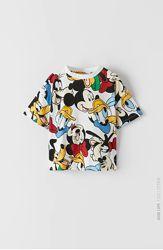 Zara. Стильные футболки с Mickey Mouse. Размеры от 6 до 14