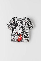 Zara. Стильные футболки с Mickey Mouse. Размер 8  10