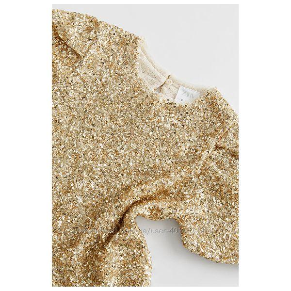Zara. Красивые нарядные блузы пайетки. Размеры 8 10 11-12