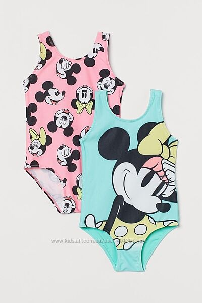 H&M.  Крутые яркие купальники с Minnie Mouse. Размеры 4 - 10