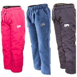 Теплые непромокаемые штаны на флисе PIDILIDI р. 86-158. Идеально на еврозиму