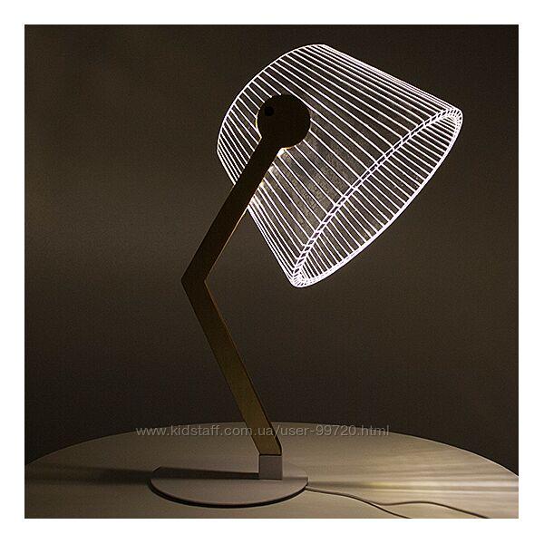 Светодиодная лампа с 3D эффектом, LED