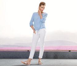Укороченные джинсики slim с вышивкой на карманах - tchibo, германия