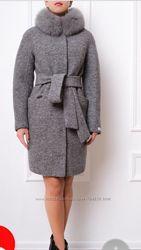 Шикарное итальянское пальто Samange р 44 в состоянии новом