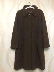 Коричневое шерстяное пальто из англии xl