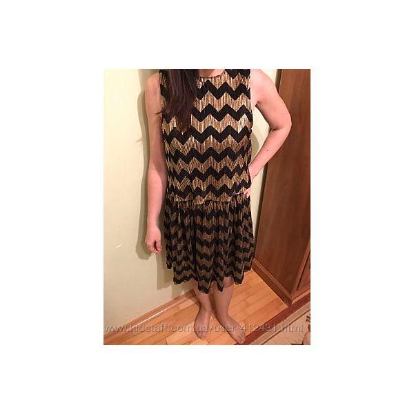 Яскраве чорно-золоте плаття від M&S, XS/S