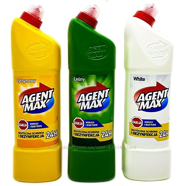 Средство для чистки унитаза AGENT MAX 1.1л
