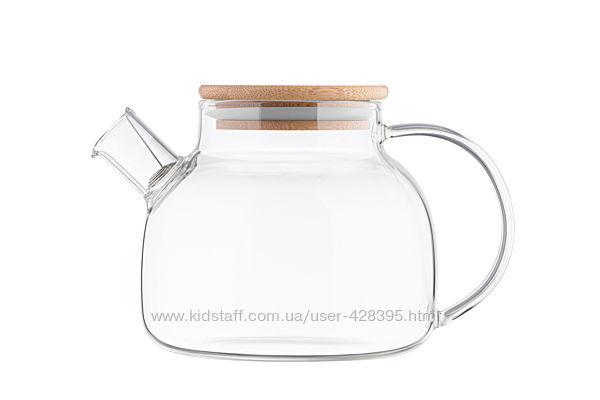 Заварник с бамбуковой крышкой Ardesto 1000мл чайник