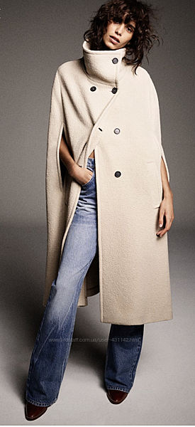 Пальто  Zara xl шерсть