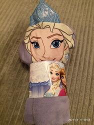 Детское полотенце пончо Frozen Эльза