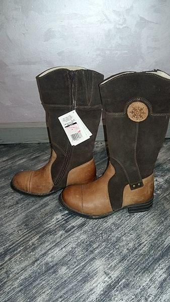 Мега крутые сапоги только для стильняшки Кожа, зима, стелька 20 см.
