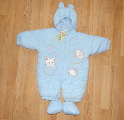 Человечек,  комбинезон для новорожденных деток 0 - 4 мес