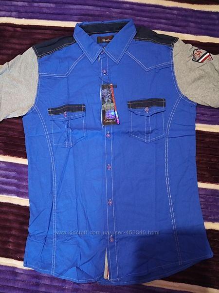 Новая летняя молодёжная рубашка, тенниска М-Л, Турция
