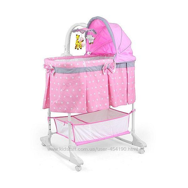 Колыбель - кроватка Milly Mally Sweet Melody цвет Pink