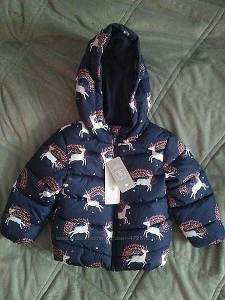 Курточка для малышки с единорожками F&F