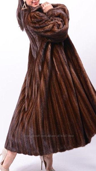 Норковая шуба шик блеклама длинная под пояс