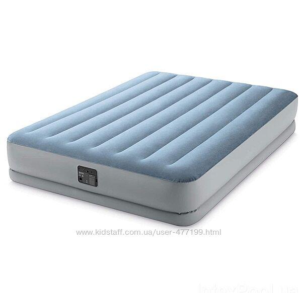 Надувная кровать Intex 64168 NP 152 х 203 х 36 см, встроеный электронасос.