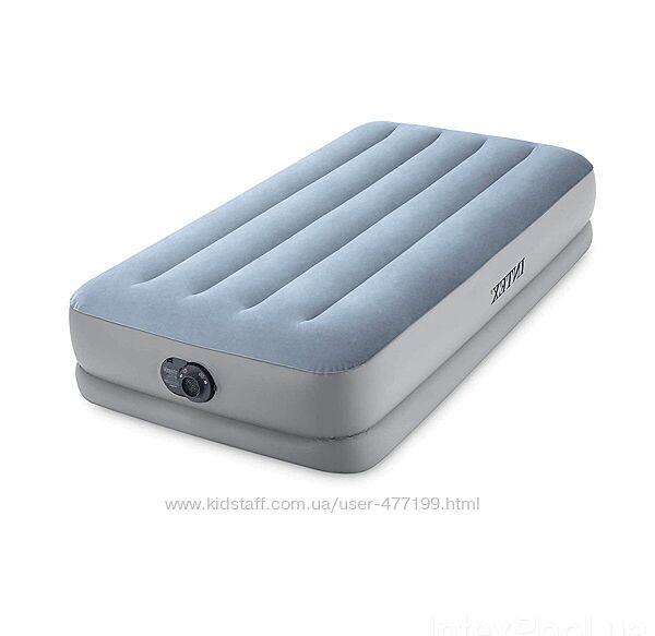 Надувная кровать Intex 64166 NP 99 х 191 х 36 см, встроеный электронасос.