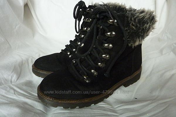 Primark, модные ботинки 35р-22см, теплые, не промокают