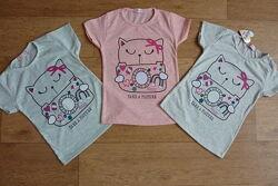 Яркие футболки для девочки, Турция, от 6 до 9-10 лет, хлопок