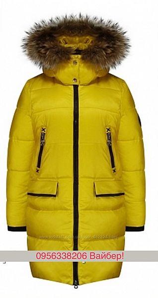 Анеруно зимнее пальто для девочки с натуральной опушкой. Зима 2020
