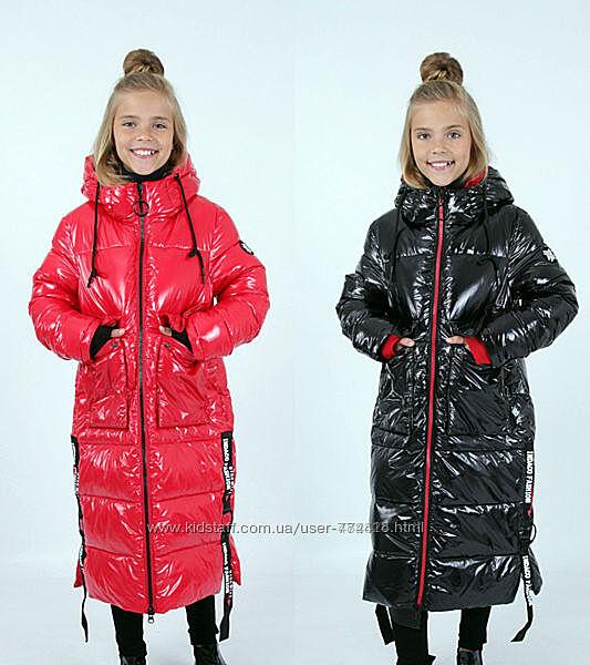 Пальто зимние на девочку от фирмы Анеруно. Зима 2021