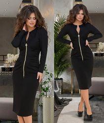 Черное деловое платье  Код  193