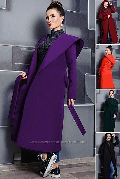 Женское пальто с капюшоном Мариз