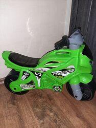 Толокар, беговел Мотоцикл ТЕХНОК зеленый Новый
